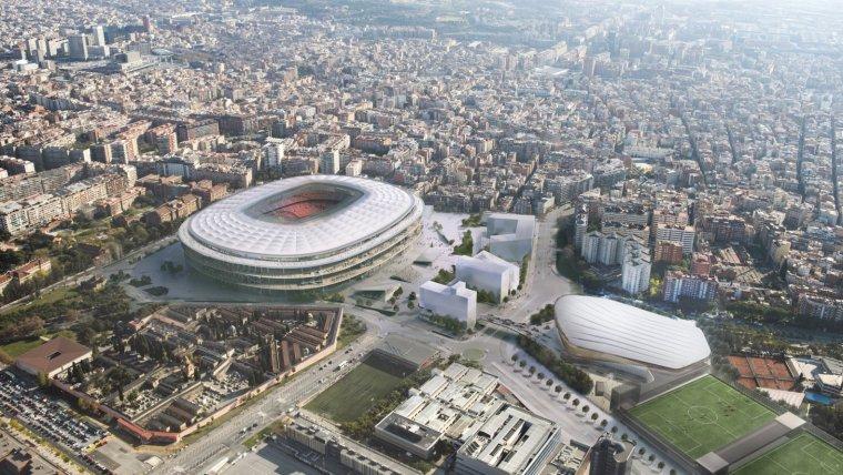 L'Espai Barça, en una vista aèria.