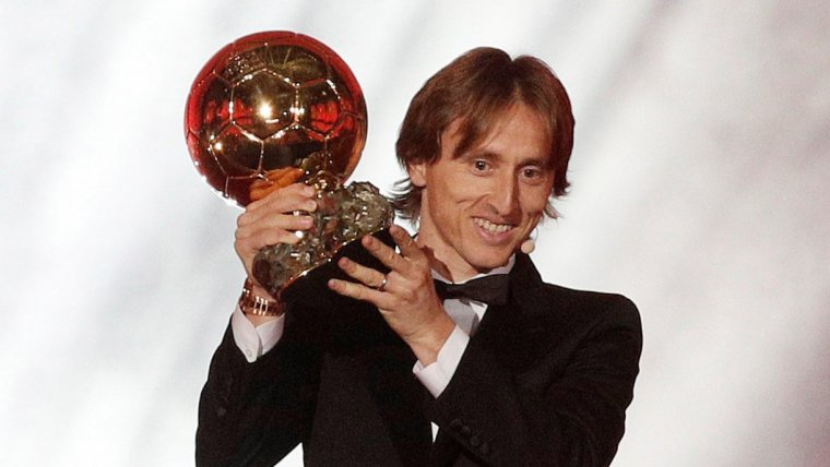 Luka Modric, Pilota d'Or 2018.