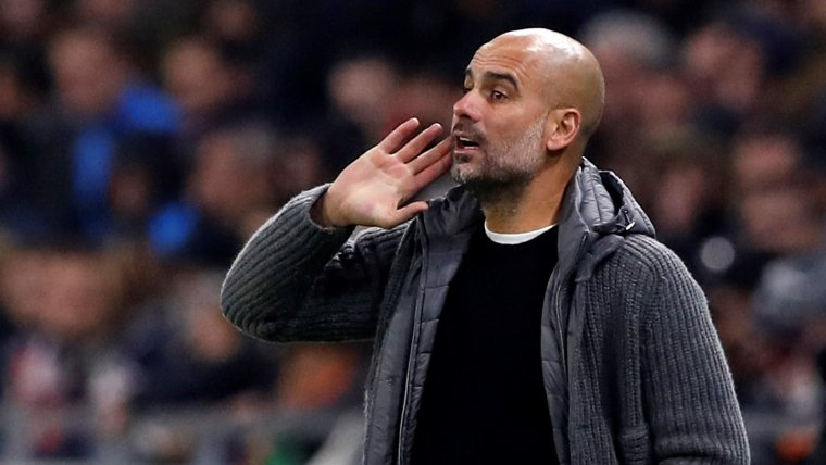 Pep Guardiola, durant un partit del Manchester City.