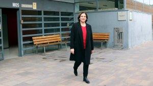 Ada Colau ha visitat Carme Forcadell a la presó de Mas d'Enric.
