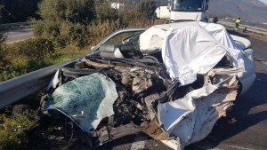 Així ha quedat el cotxe de la reusenca que ha mort aquesta tarda a Alcover.