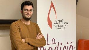 Albert Oliva, a la seu de la UAF a Valls.
