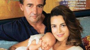 Alessandro Lequio feliz por tener por fin una hija