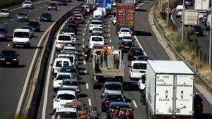 Aquesta tarda les retencions han protagonitzat el trànsit de les carreteres catalanes.