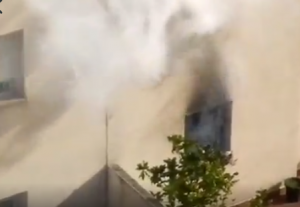 Captura del vídeo l'incendi a Lleida