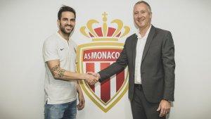 Cesc Fàbregas, nou jugador de l'AS Mònaco.