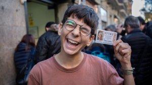 Cosmin, el nen que ha guanyat el primer premi del Nen