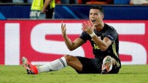 Cristiano Ronaldo, després de l'acció amb Murillo