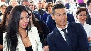 Cristiano Ronaldo y con su actual pareja Georgina Rodríguez