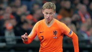 De Jong, durant el partit entre la selecció holandesa i la francesa.