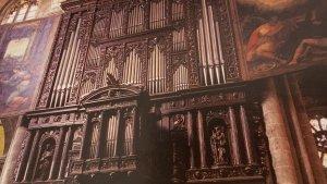 Detall de l'orgue de la Catedral de Tarragona.