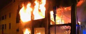 El bar de copes de Barcelona, en ple incendi
