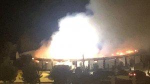 El incendio se ha producido en la plaza de toros de la finca de Morante de la Puebla