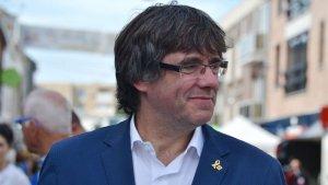 El president Puigdemont en un acte de la N-VA a Lommel (Flandes) el passat diumenge