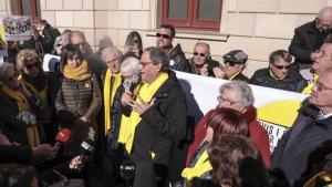 El president Torra pronuncia un parlament davant els Avis i Àvies per la Llibertat