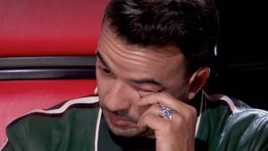 El puertorriqueño no pudo reprimir las lágrimas