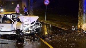 El vehículo accidentado en Pamplona ha quedado en este estado
