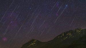 Els Quadràntids vistos des de l'Alta Garrotxa la nit del 3 al 4 de gener