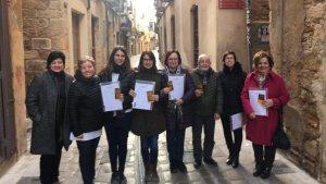 Els sis guanyadores del sorteig de la campanya de Nadal i Reis de la Unió de Botiguers i Comerciants de Montblanc.