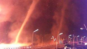 Els tornados de foc van causar moments de pànic a Holanda
