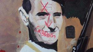 En un altre dels dibuixos representats en l'obra d'Orion Leim es pot veure, fins i tot, una esvàstica.