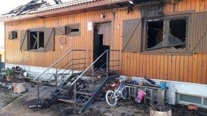 Estat en que va quedar la casa cremada de l'Albiol