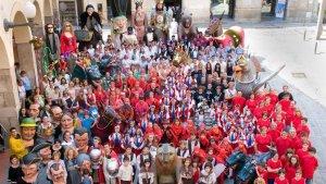 Fotografia de l'entitat feta el 2012, any en què la UAF va participar per última vegada a l'Aplec Internacional.