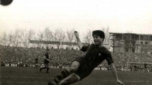 Francesc Sampedro, durant un partit amb el Barça