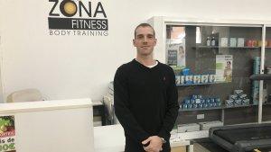 Gerard Pérez, al gimnàs Zona Fitness de Torredembarra, on instal·larà la seva escola de ball.