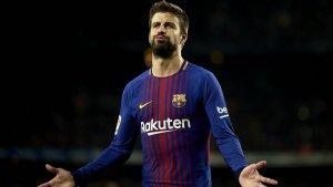 Gerard Piqué amb la samarreta del Barça