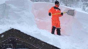 grandes acumulaciones de nieve