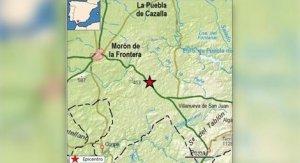 Imagen del epicentro de uno de los terremotos