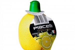 Imagen del zumo de limón de la marca Piacelli que contiene sulfitos no declarados