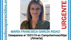Imagen publicada por 'SOS Desaparecidos' en las redes sociales