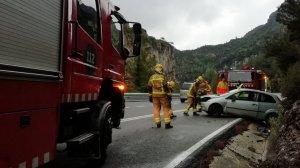Imatge de l'accident, al Coll de Fatxes