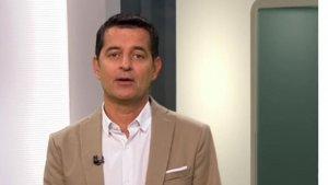 Imatge de Xavier Bonastre durant un dels informatius de TV3