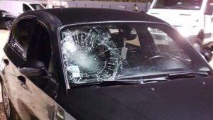 Imatge del vehicle amb el qual el detingut va atropellar la seva víctima en un pas de vianants