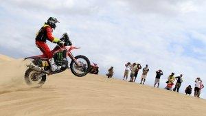 Joan Barreda, durant la primera etapa del Dakar 2019.