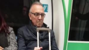 Joan Gaspart ha agafat el metro per primera vegada degut a la vaga de taxis