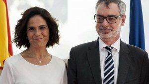 José Manuel Villegas con su ex esposa, Begoña de Miquel