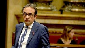 Josep Rull, al Parlament