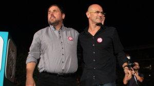 Junqueras i Romeva, en una imatge d'arxiu en campanya