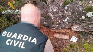 La Guàrdia Civil de Lleida ha retirat i destruït l'artefacte