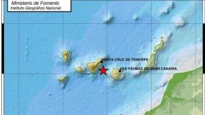 La imagen nos muestra el punto exacto del terremoto