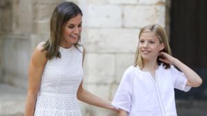 La reina Letícia amb la infanta Sofia