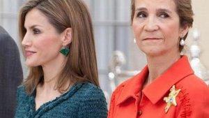 La reina Letizia y la infanta Elena