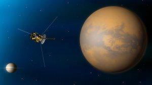 La sonda espacial Cassini rodeó Titán en 2016