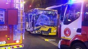 L'accident ha tingut lloc a l'altura del número 286 de la Gran Via de Barcelona