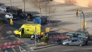 L'accident s'ha produït pels volts de les deu del matí a l'avinguda de Marià Fortuny de Reus.