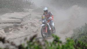 Laia Sanz, durant el Dakar 2019.